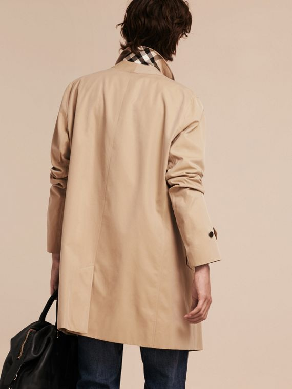 Cotton Gabardine Car Coat Honey - cell image 2