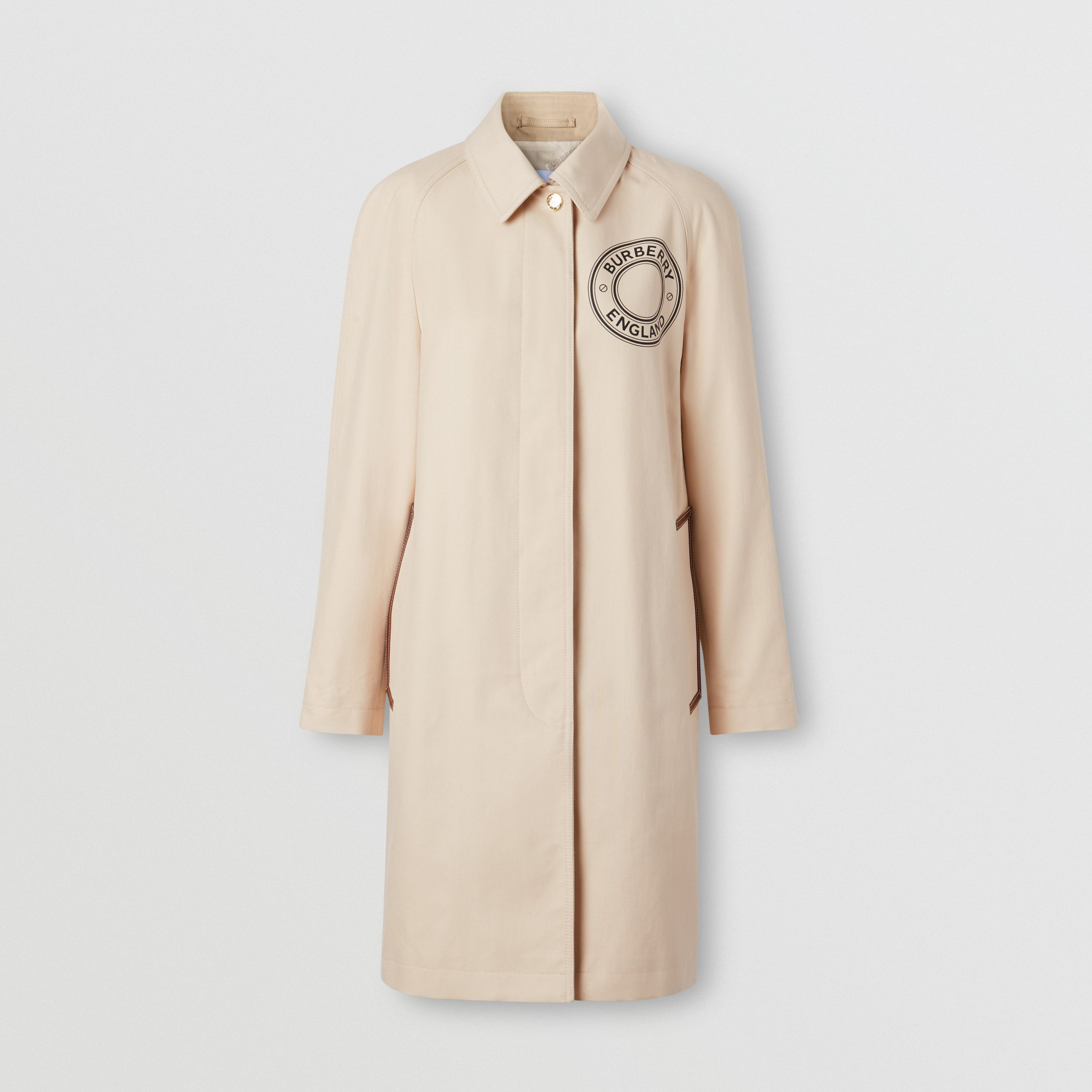 Logo Graphic Cotton Canvas Car Coat - Women | Burberry Canada - 1