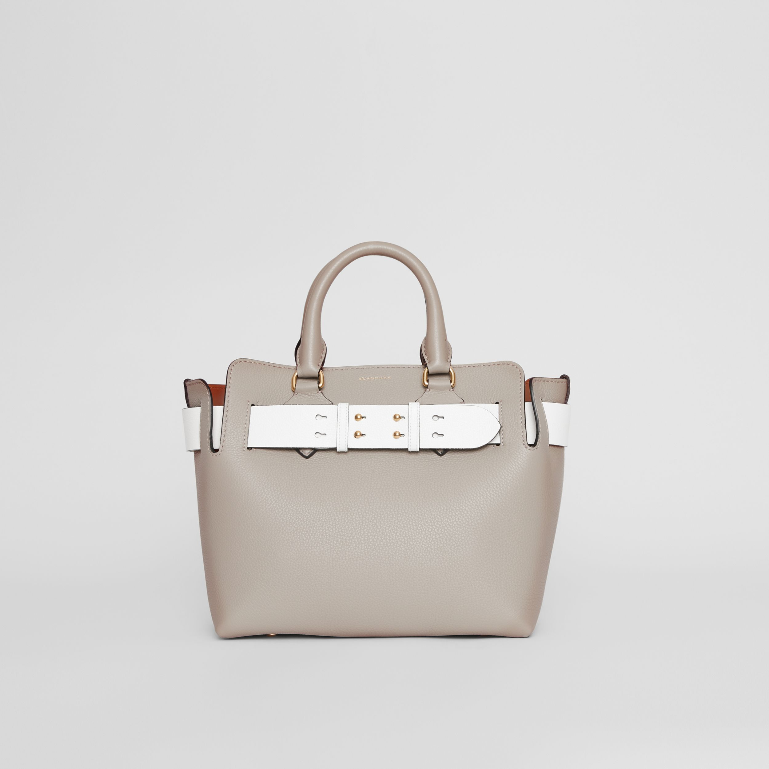 The Small Tri-tone Leather Belt Bag in Mineral Grey - Women | Burberry - 1