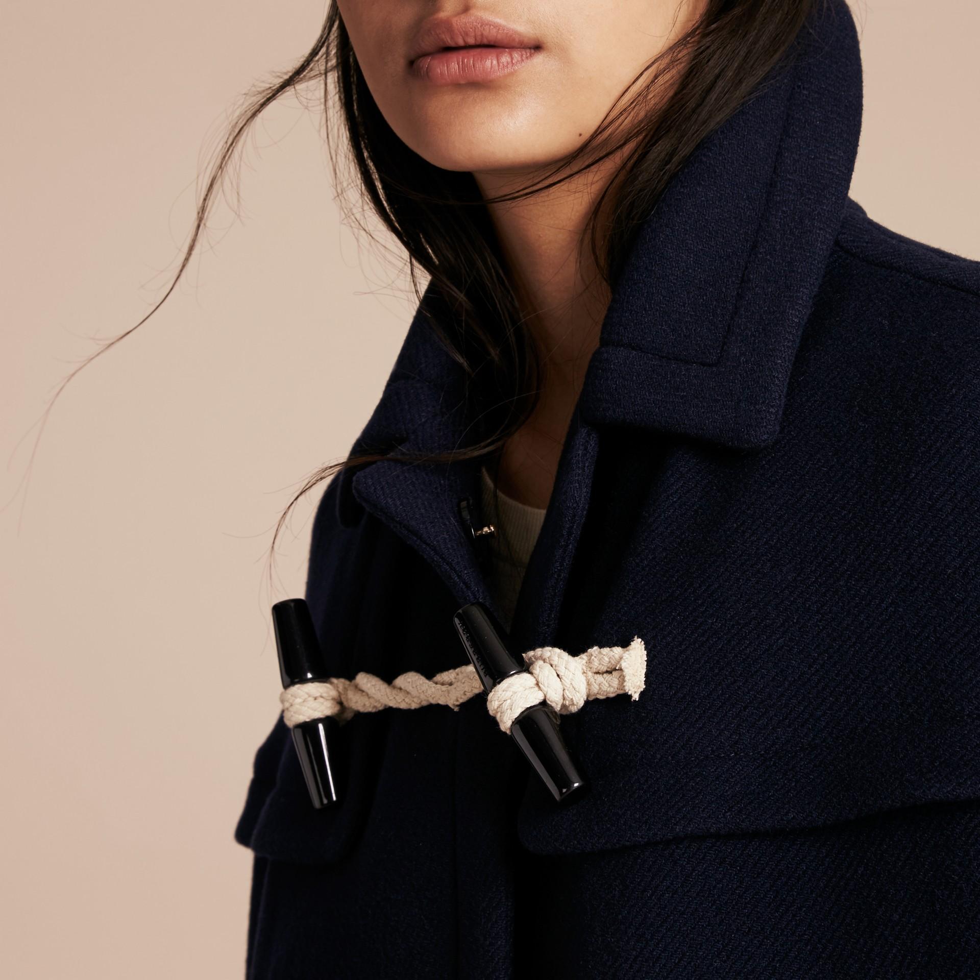 Marine Cape style duffle-coat en laine et cachemire Marine - photo de la galerie 5