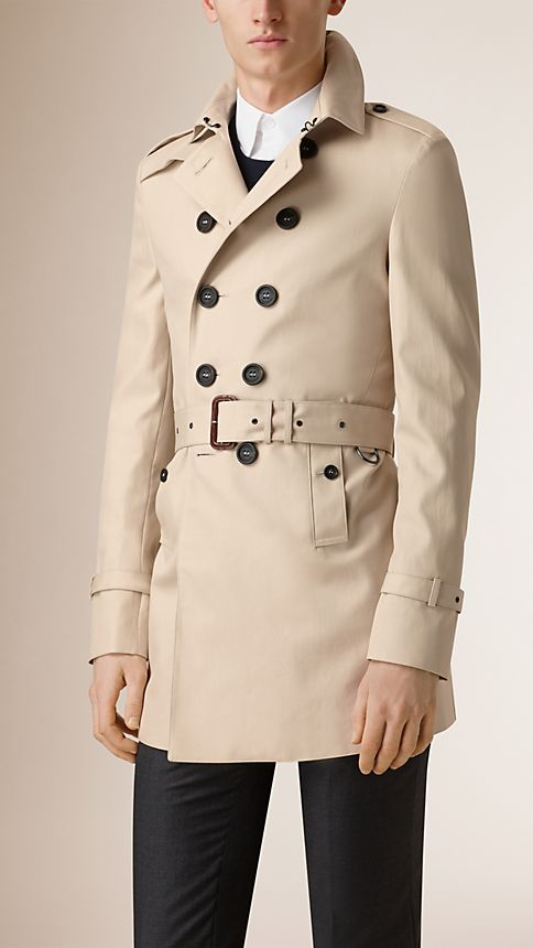 Stone Double-breasted Cotton Trench Coat - Image 2