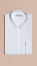 Modern Fit Button-down Collar Cotton Poplin Shirt