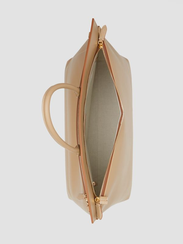 Extra Large Leather Society Top Handle Bag in Honey - Men | Burberry - cell image 3