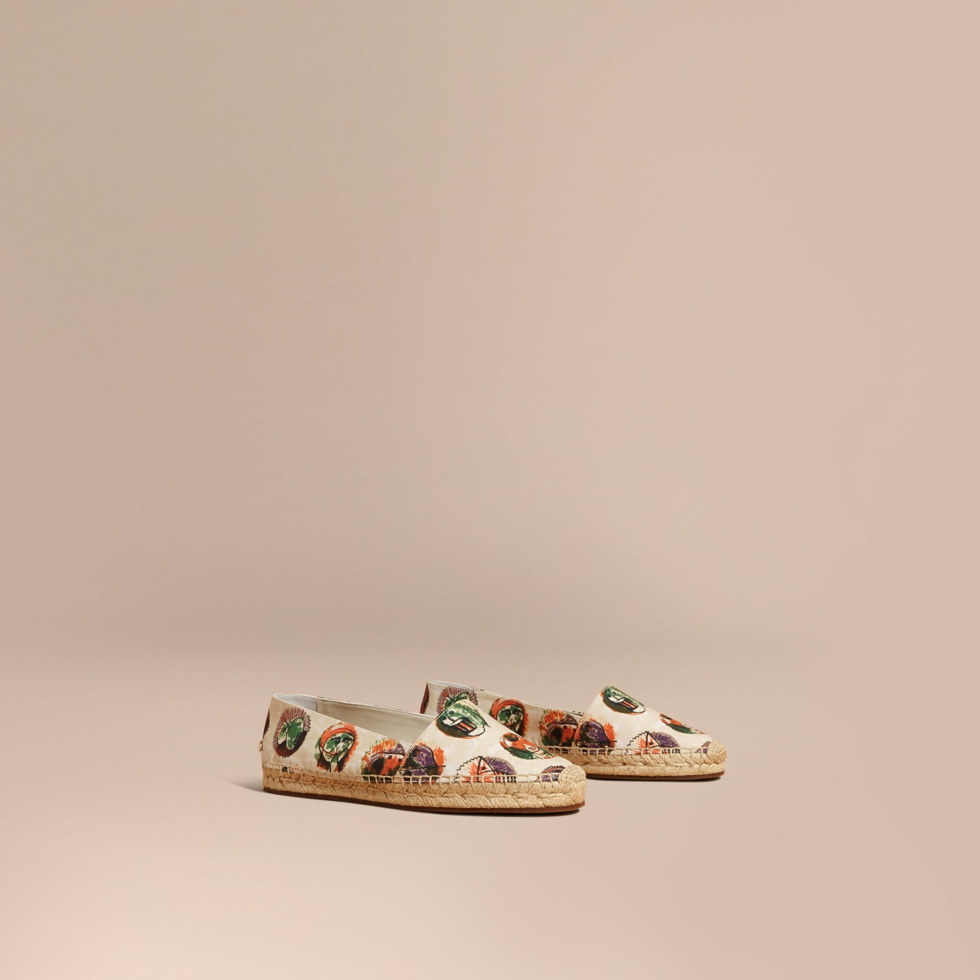 Pallas Heads Print Cotton Espadrilles - gallery image 1