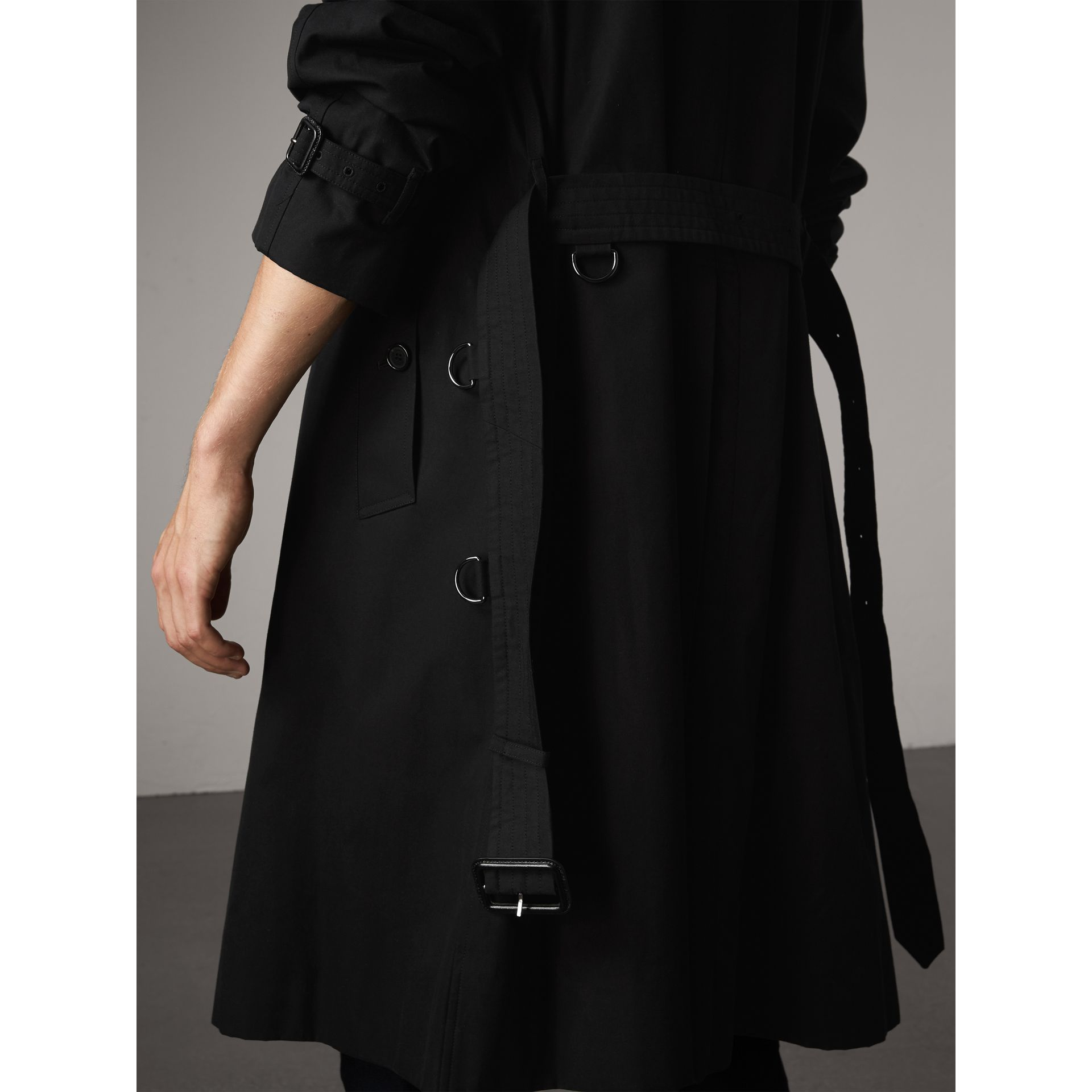 The Westminster – Extra-long Trench Coat in Black - Men | Burberry United Kingdom - gallery image 4