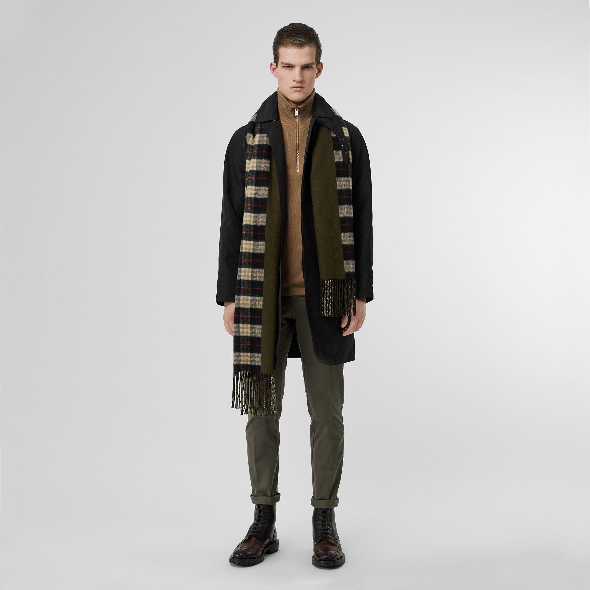 Bonded Car Coat with Warmer in Black - Men | Burberry Hong Kong - gallery image 7