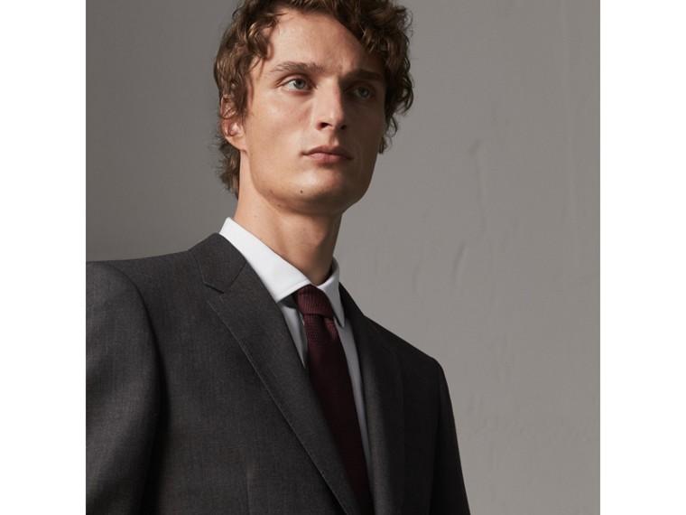 Modern geschnittener Part-Canvas-Anzug aus Wolle (Anthrazitfarben) - Herren | Burberry - cell image 4
