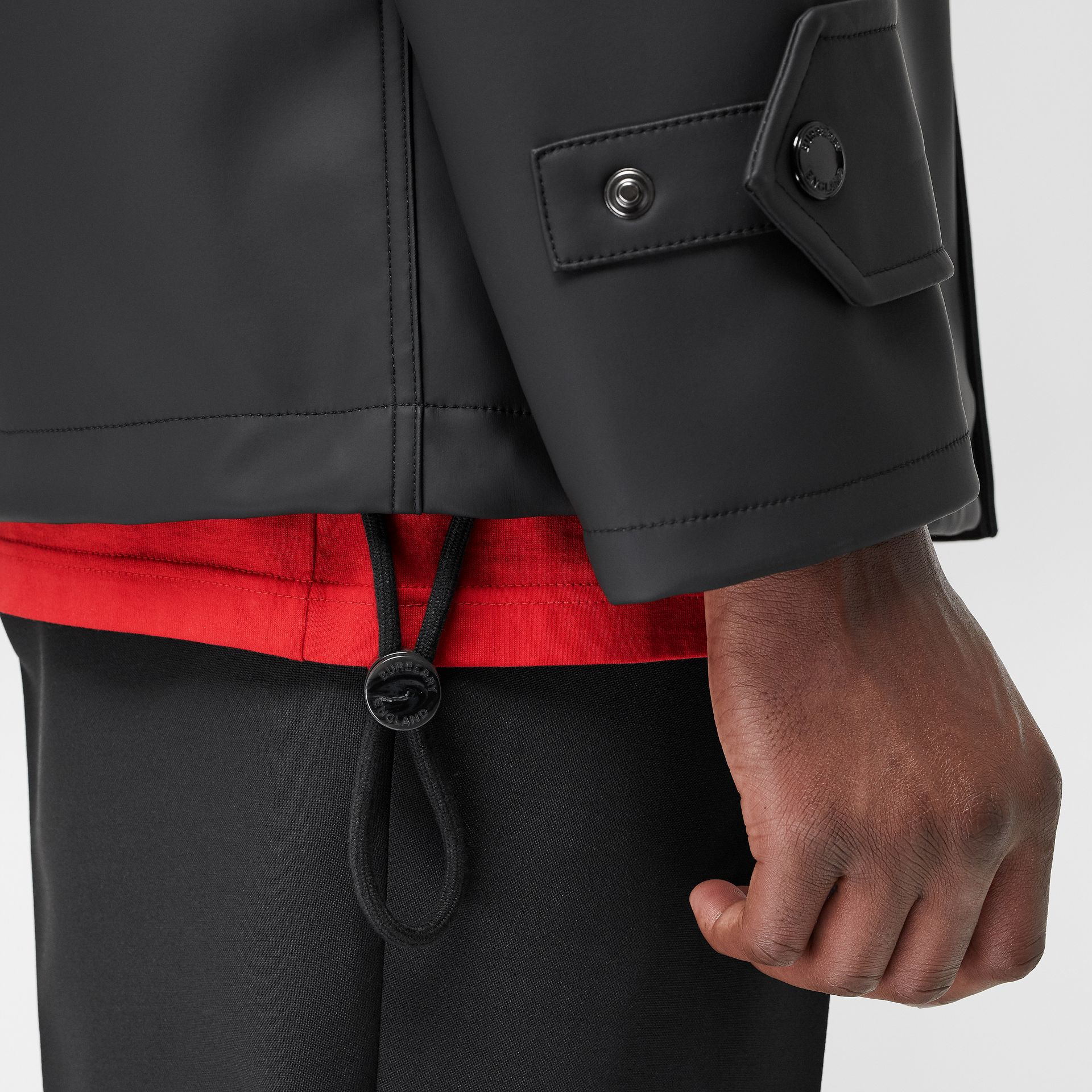 Detachable Hood Showerproof Jacket in Black - Men | Burberry Australia - gallery image 5
