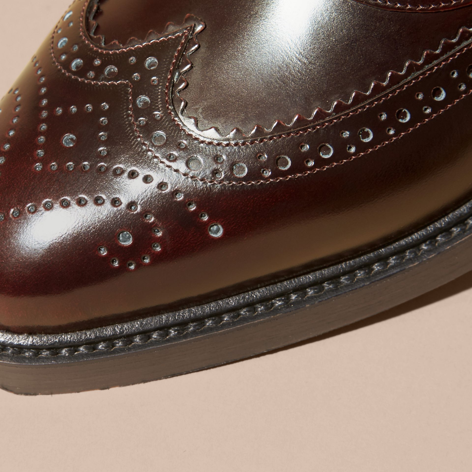 Bordeaux Leather Wingtip Brogues - gallery image 2
