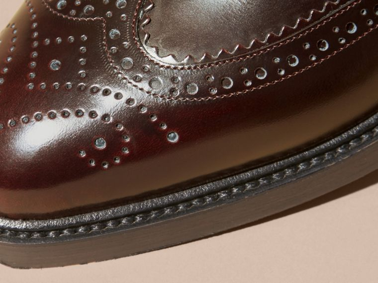 Bordeaux Leather Wingtip Brogues - cell image 1
