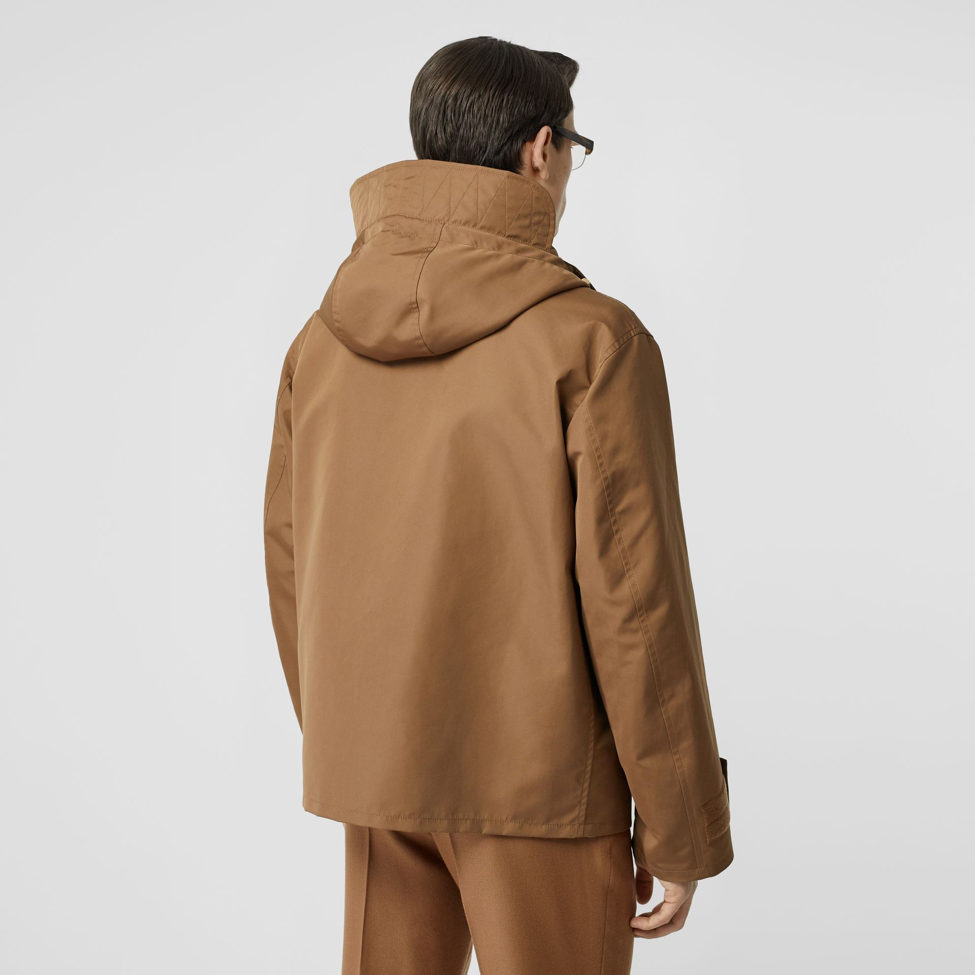 Detachable Panel Detail Hooded Jacket in Warm Walnut - Men | Burberry United Kingdom - gallery image 5