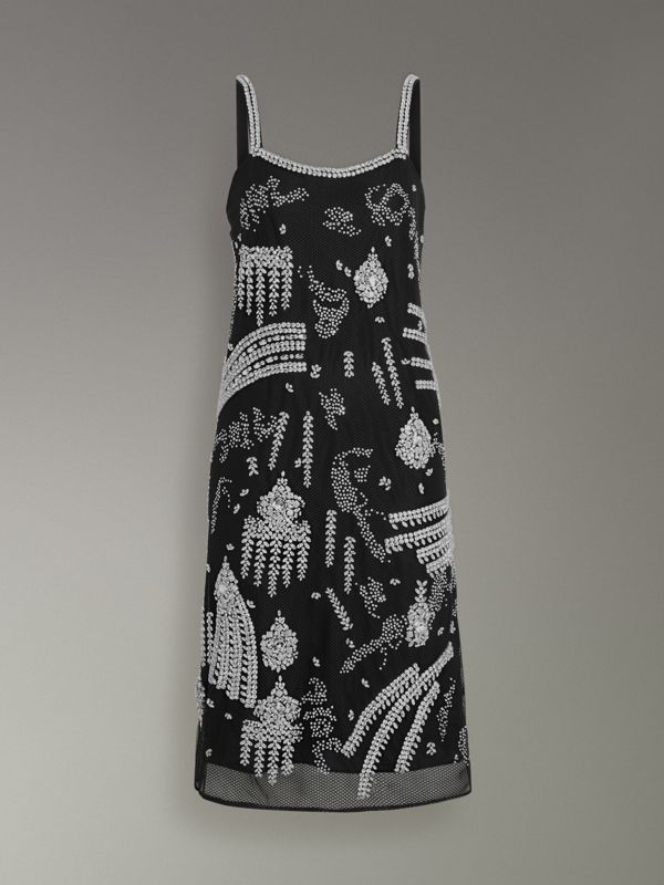Crystal-embellished Slip Dress - Women | Burberry Singapore - cell image 3