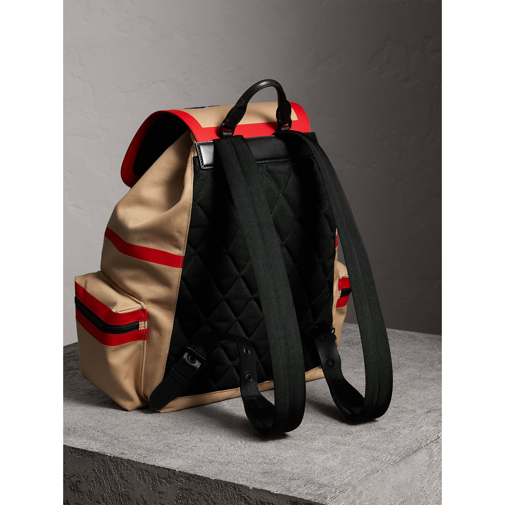 Burberry x Kris Wu The Extra Large Rucksack in Honey - Men | Burberry Australia - gallery image 4