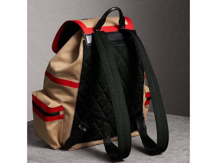Burberry x Kris Wu The Extra Large Rucksack in Honey - Men | Burberry Australia - cell image 4