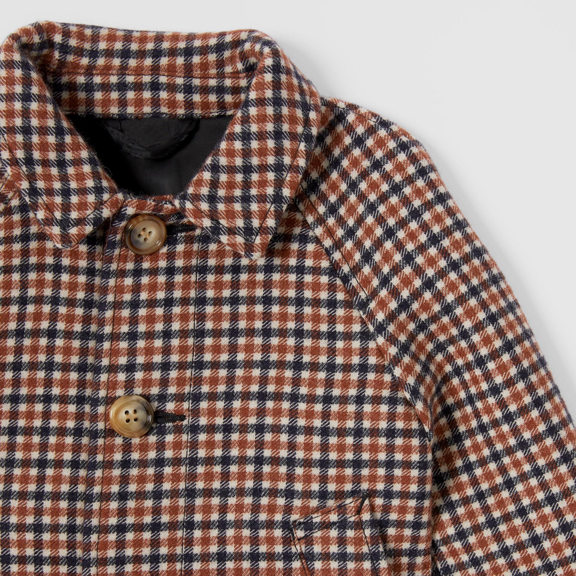 Check Wool Coat in Rust Brown - Children | Burberry - gallery image 4