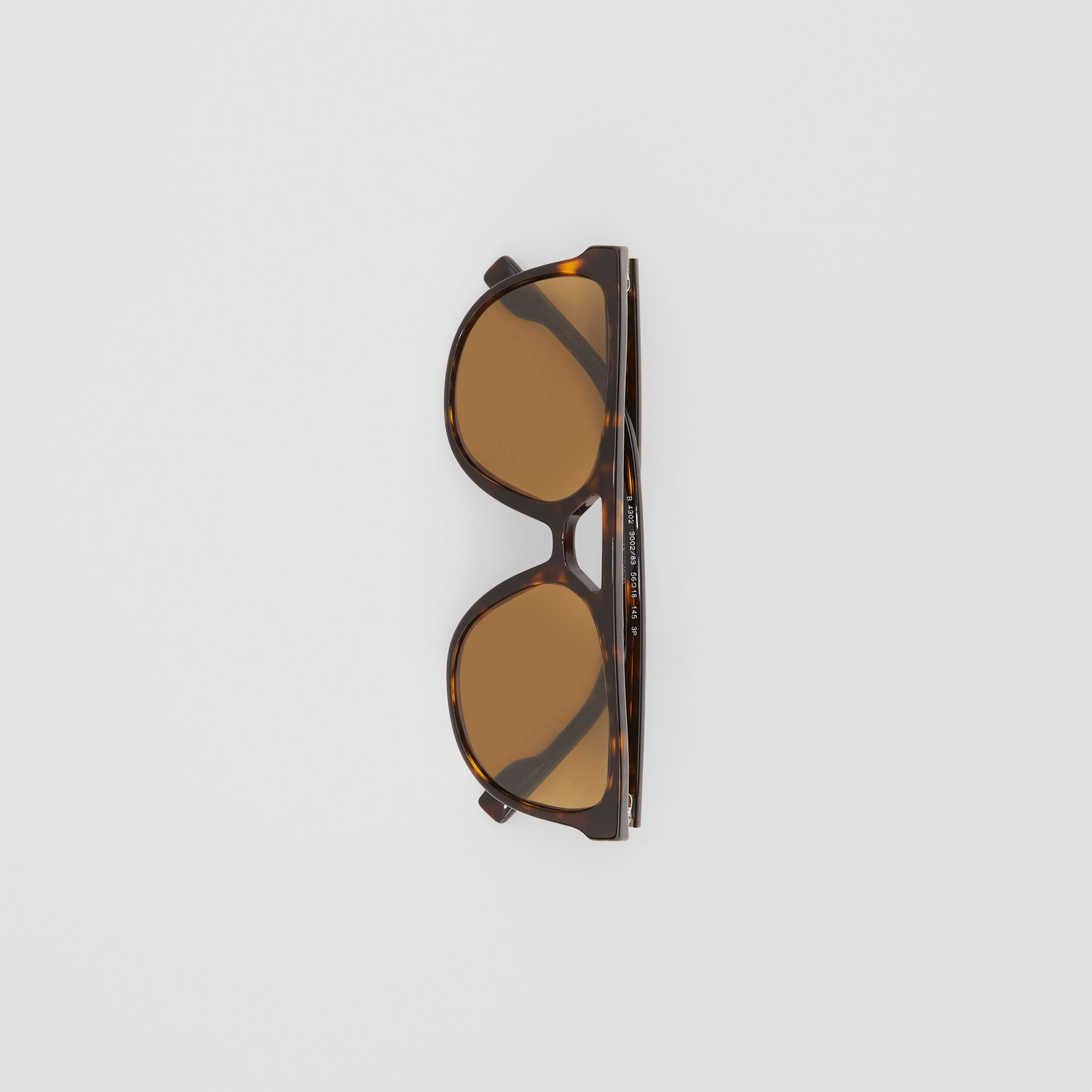 Navigator Sunglasses in Tortoiseshell - Men | Burberry - 4