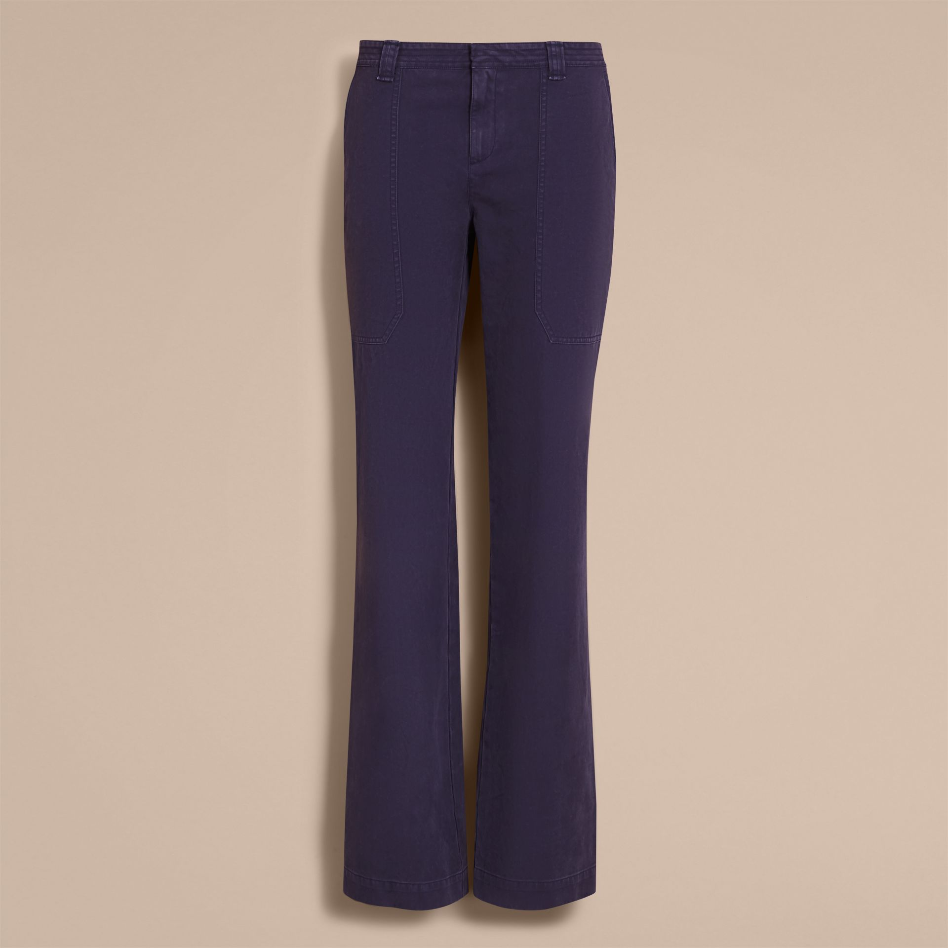 Cotton Twill Workwear Trousers - Women | Burberry - gallery image 4