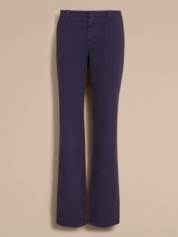 Cotton Twill Workwear Trousers - Women | Burberry - cell image 3