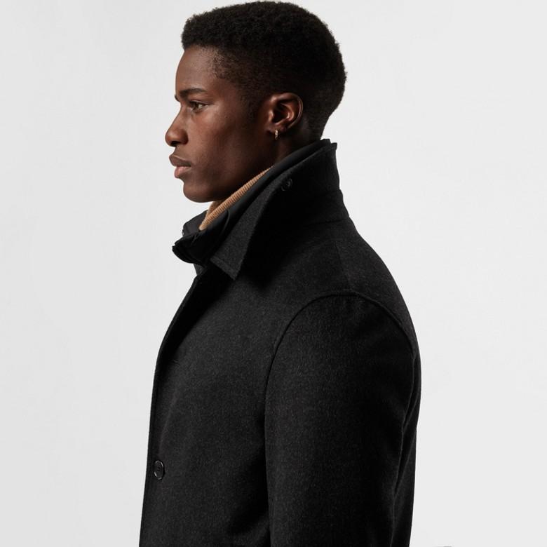Burberry - Paletot en laine et cachemire avec veste sans manches amovible - 2