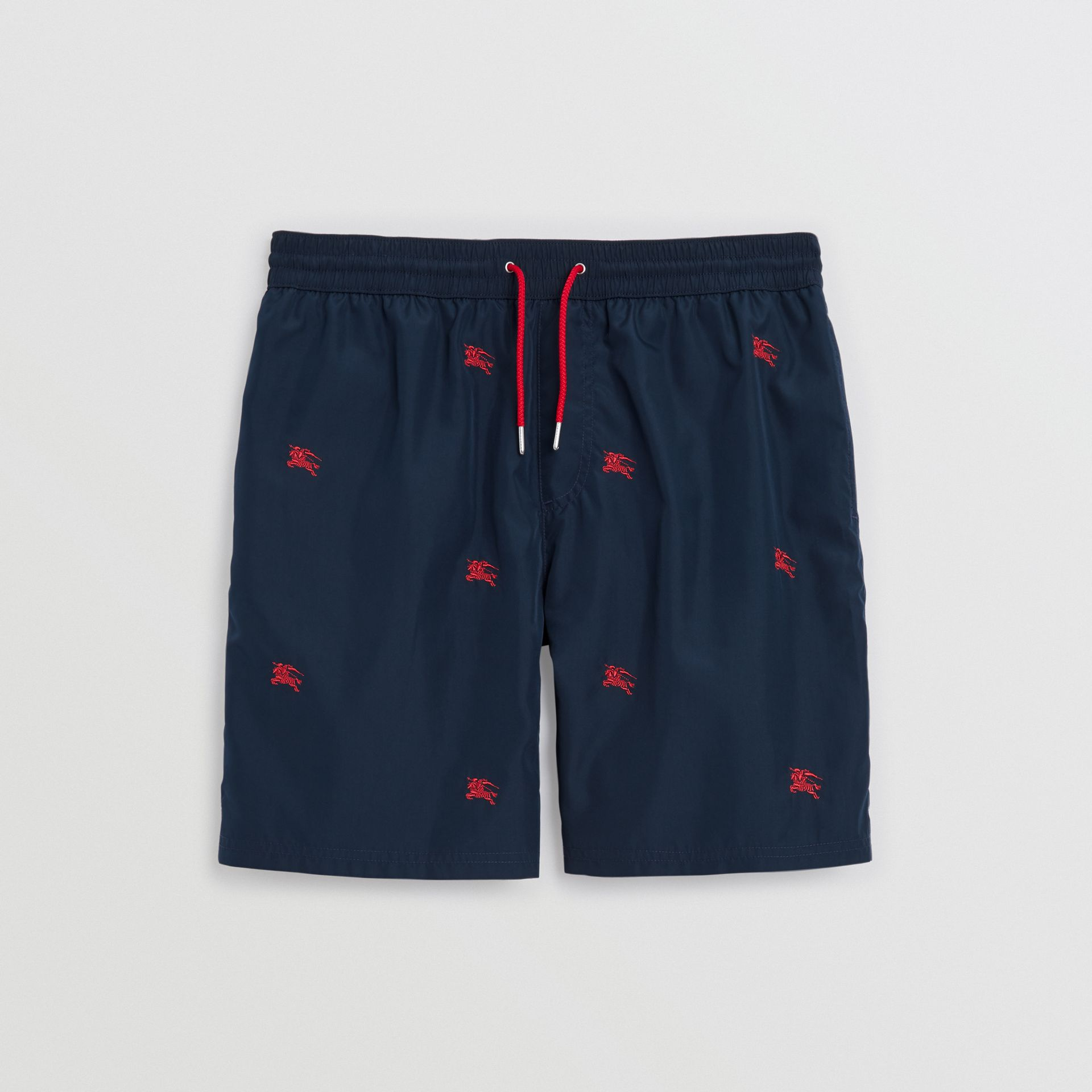 Archive Logo Drawcord Swim Shorts in Navy - Men | Burberry United Kingdom - gallery image 3