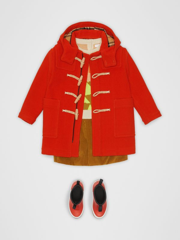 Double-faced Wool Duffle Coat in Orange Red | Burberry Hong Kong - cell image 2