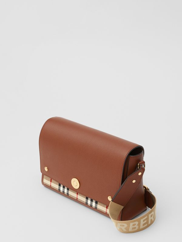 Sac à bandoulière Note en cuir Vintage check (Hâle) - Femme | Burberry Canada - cell image 3