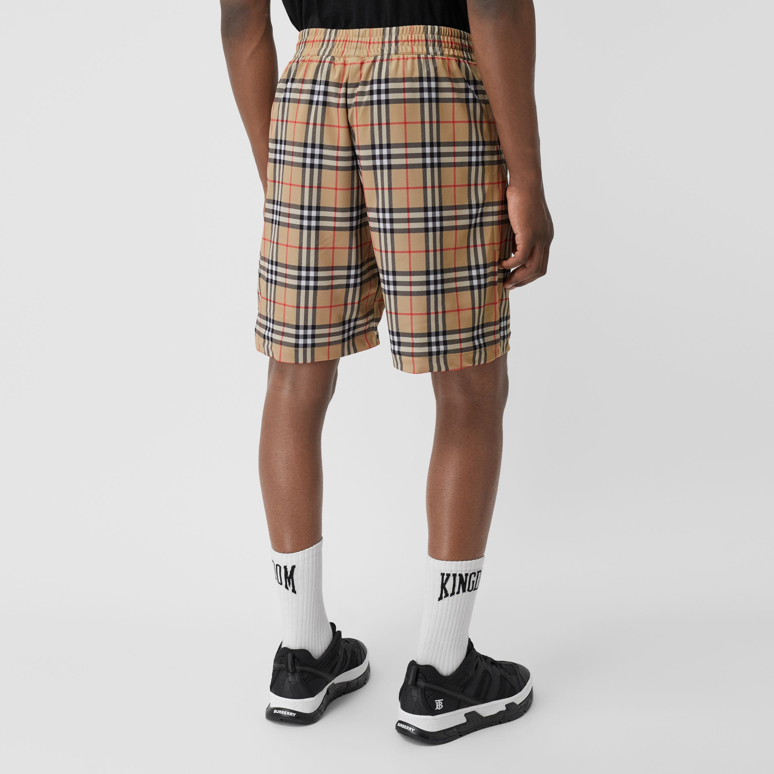 Vintage Check Technical Twill Shorts in Archive Beige - Men | Burberry United States - 3