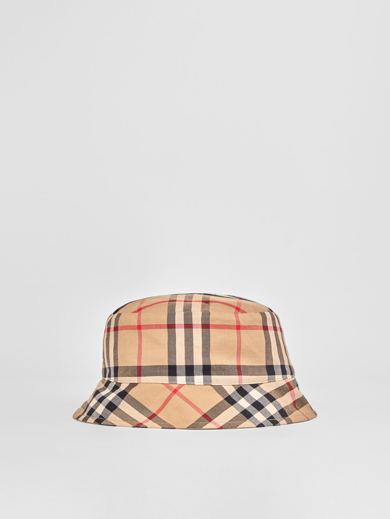 Vintage Check Twill Bucket Hat in Archive Beige