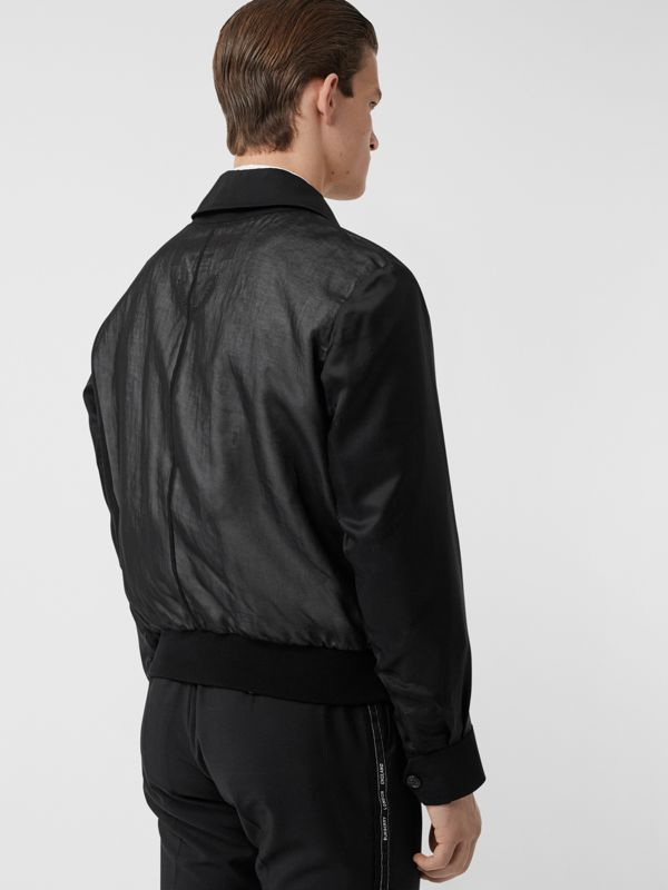 Logo Detail Panelled Cotton Blouson in Black - Men | Burberry Singapore - cell image 2