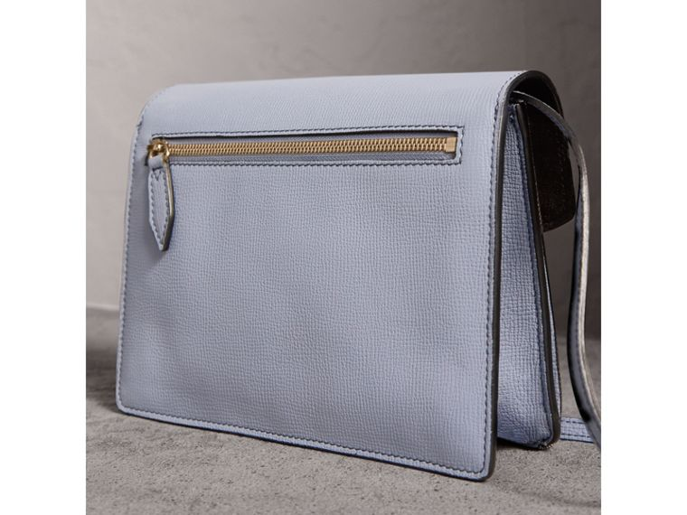 Small Leather and House Check Crossbody Bag in Slate Blue - Women | Burberry - cell image 4