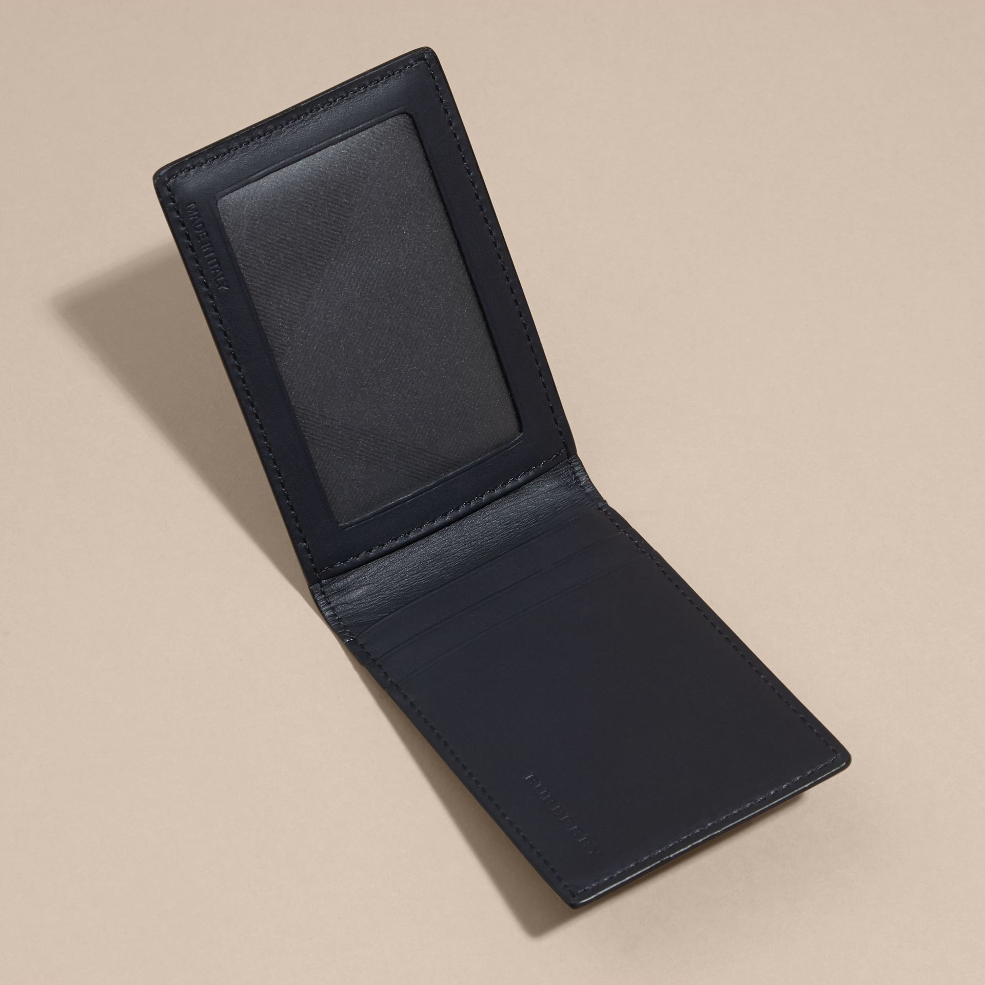 London Leather ID Wallet Dark Navy - gallery image 5