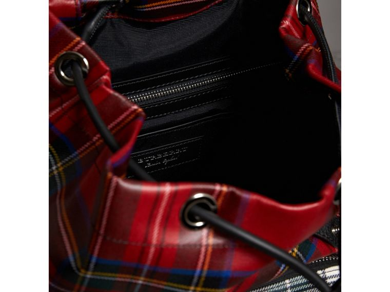 The Medium Rucksack in Laminated Tartan in Military Red - Women | Burberry - cell image 4