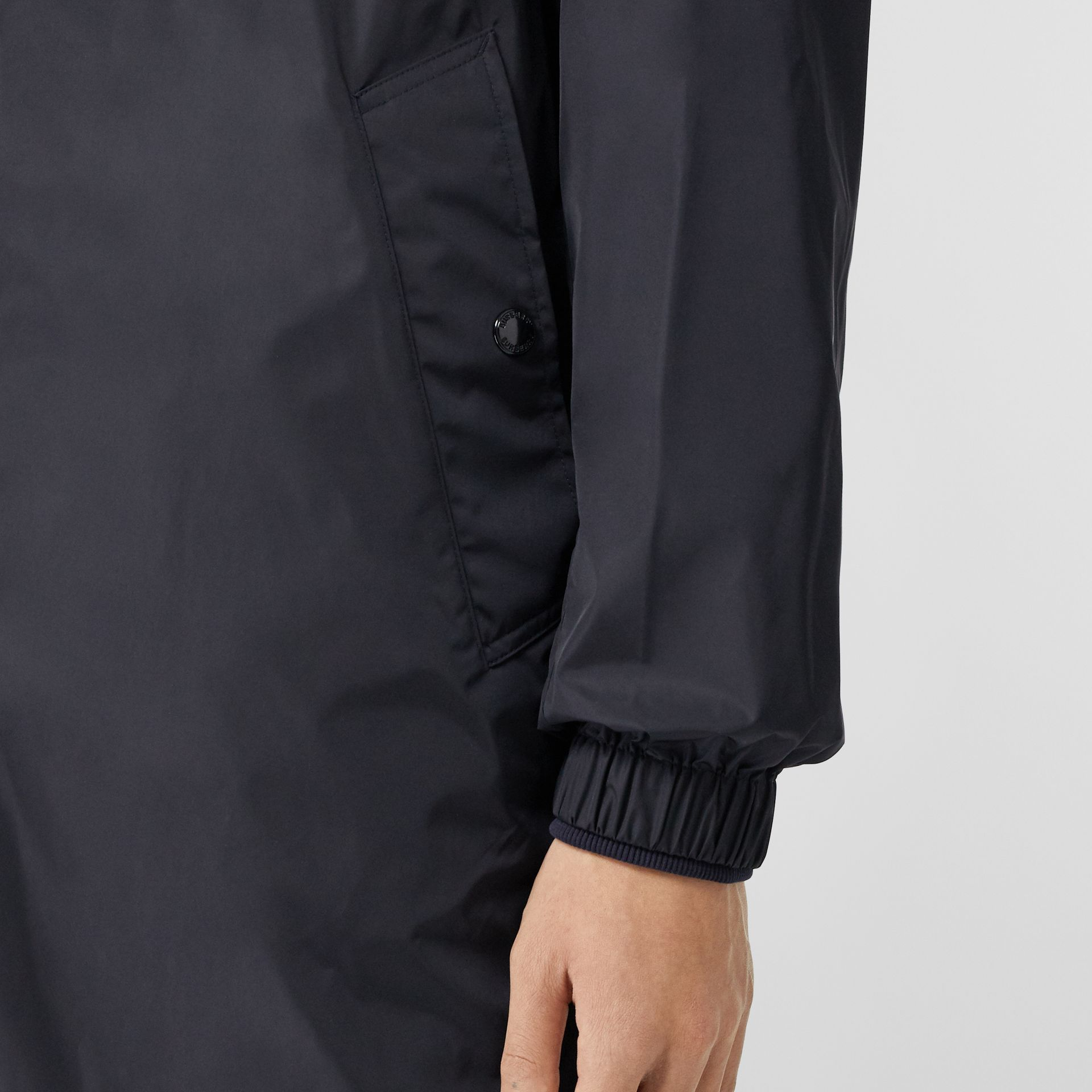 Detachable Hood Nylon Car Coat in Navy - Men | Burberry - gallery image 4