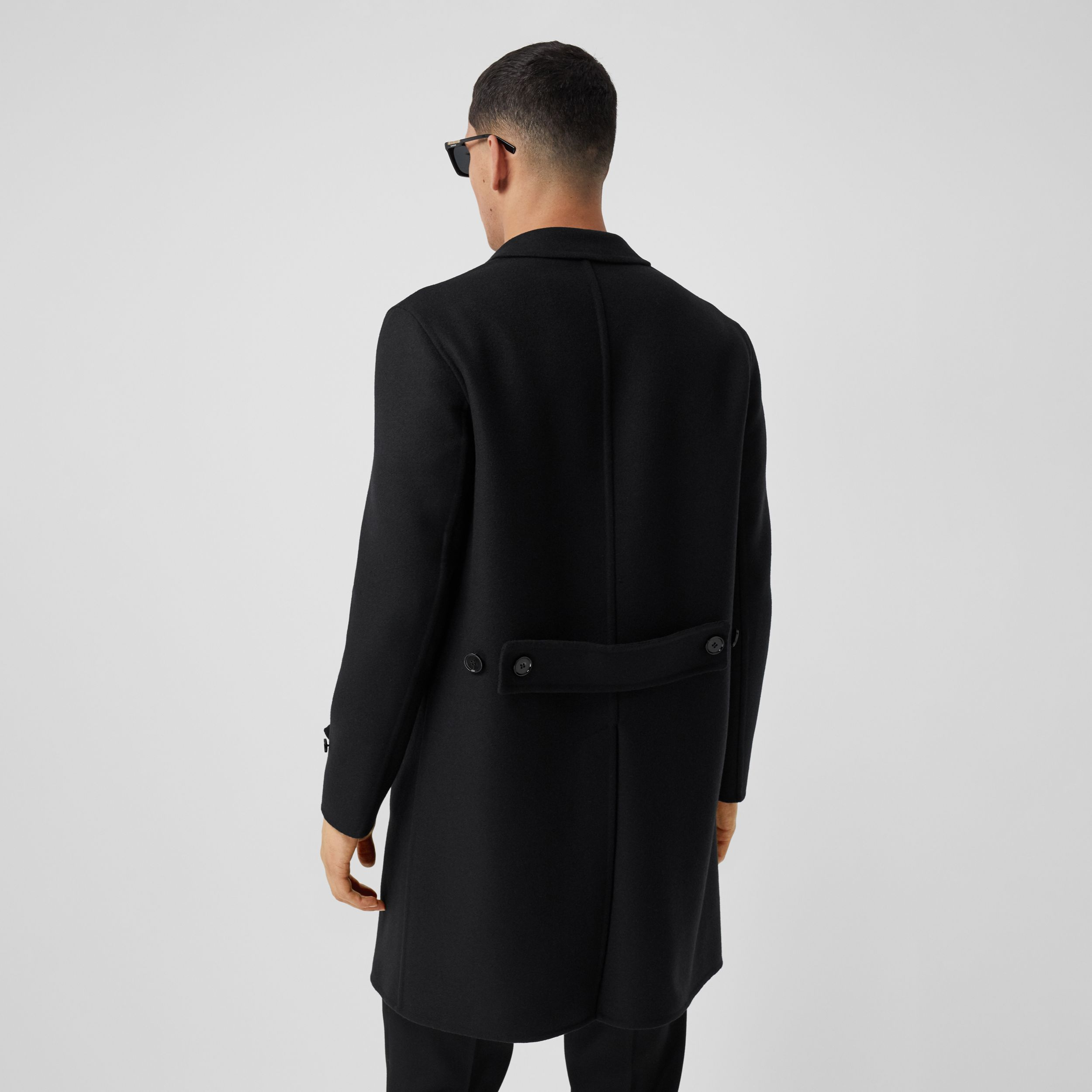 Wool Cashmere Lab Coat in Black - Men | Burberry - 3