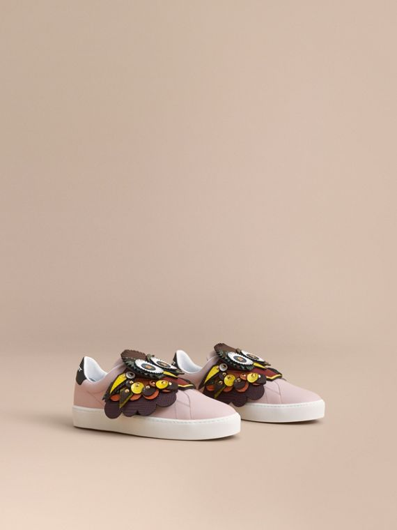 Sport-Slipper aus Leder mit Burberry Beasts-Motiv - Damen | Burberry