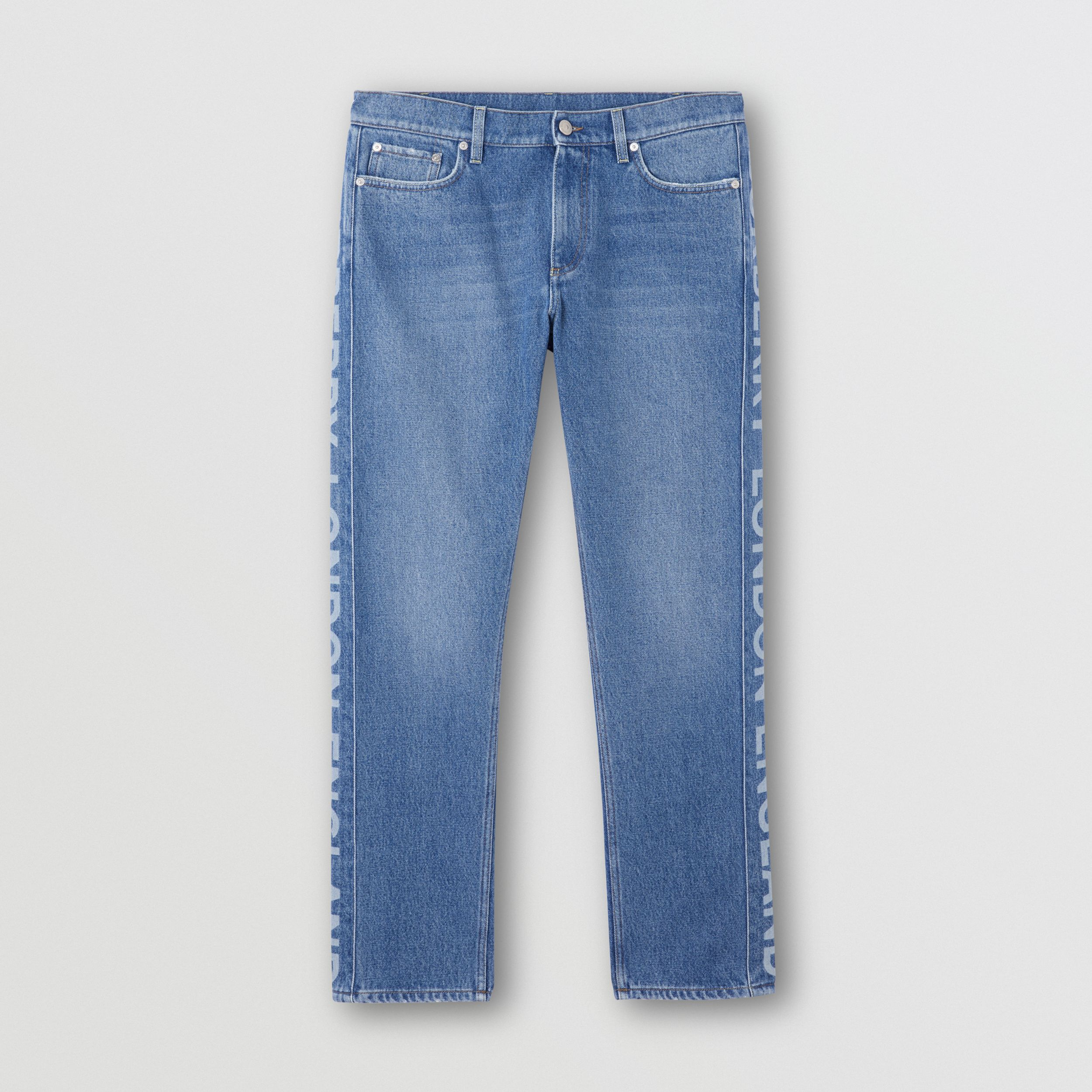 Straight Fit Logo Detail Washed Jeans - Men | Burberry United States - 4