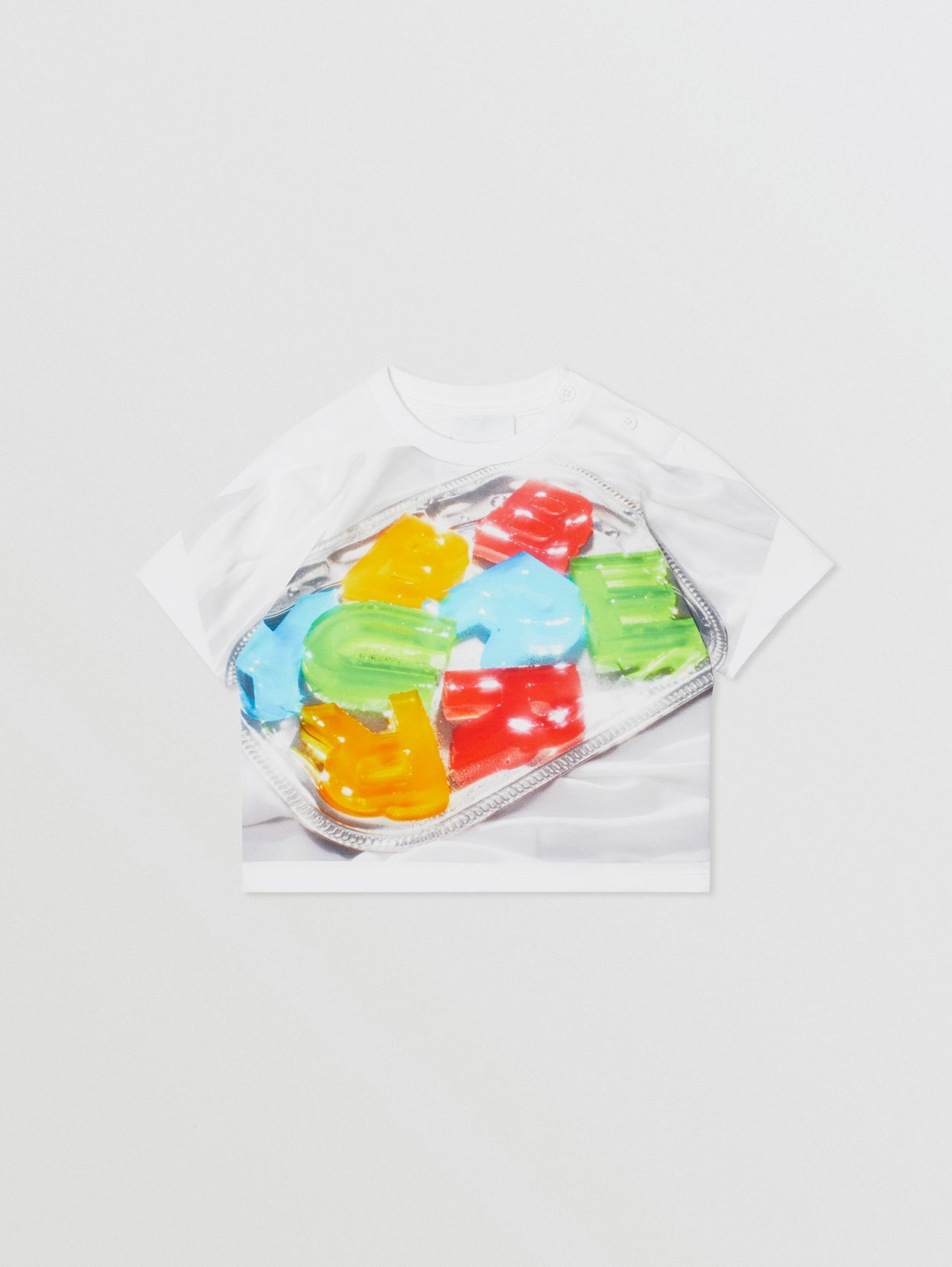 Confectionery Print Cotton T-shirt in Multicolour