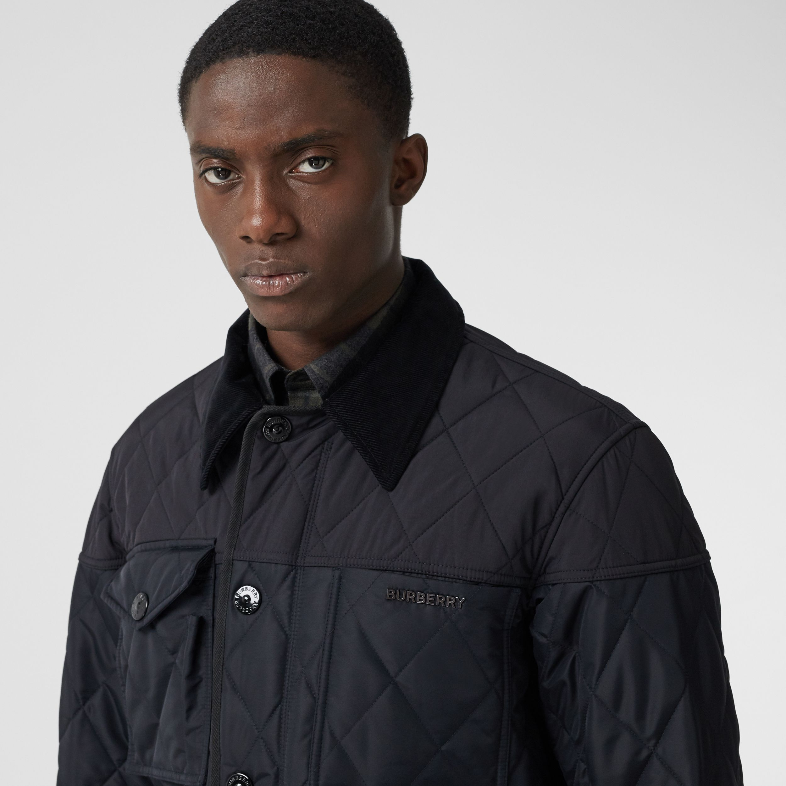 Diamond Quilted Thermoregulated Field Jacket in Navy - Men | Burberry - 2