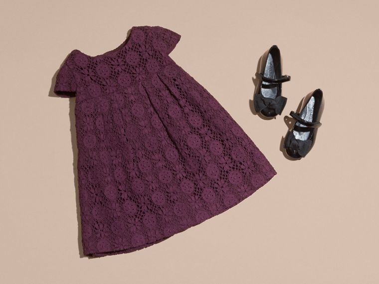 Beetroot English Lace A-line Dress Beetroot - cell image 1