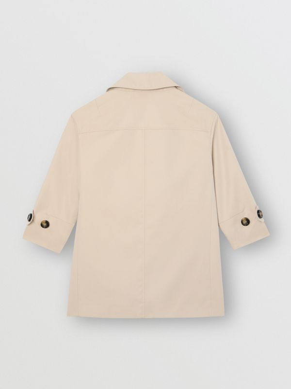 Horseferry Print Cotton Gabardine Trench Coat in Stone | Burberry Singapore - cell image 3