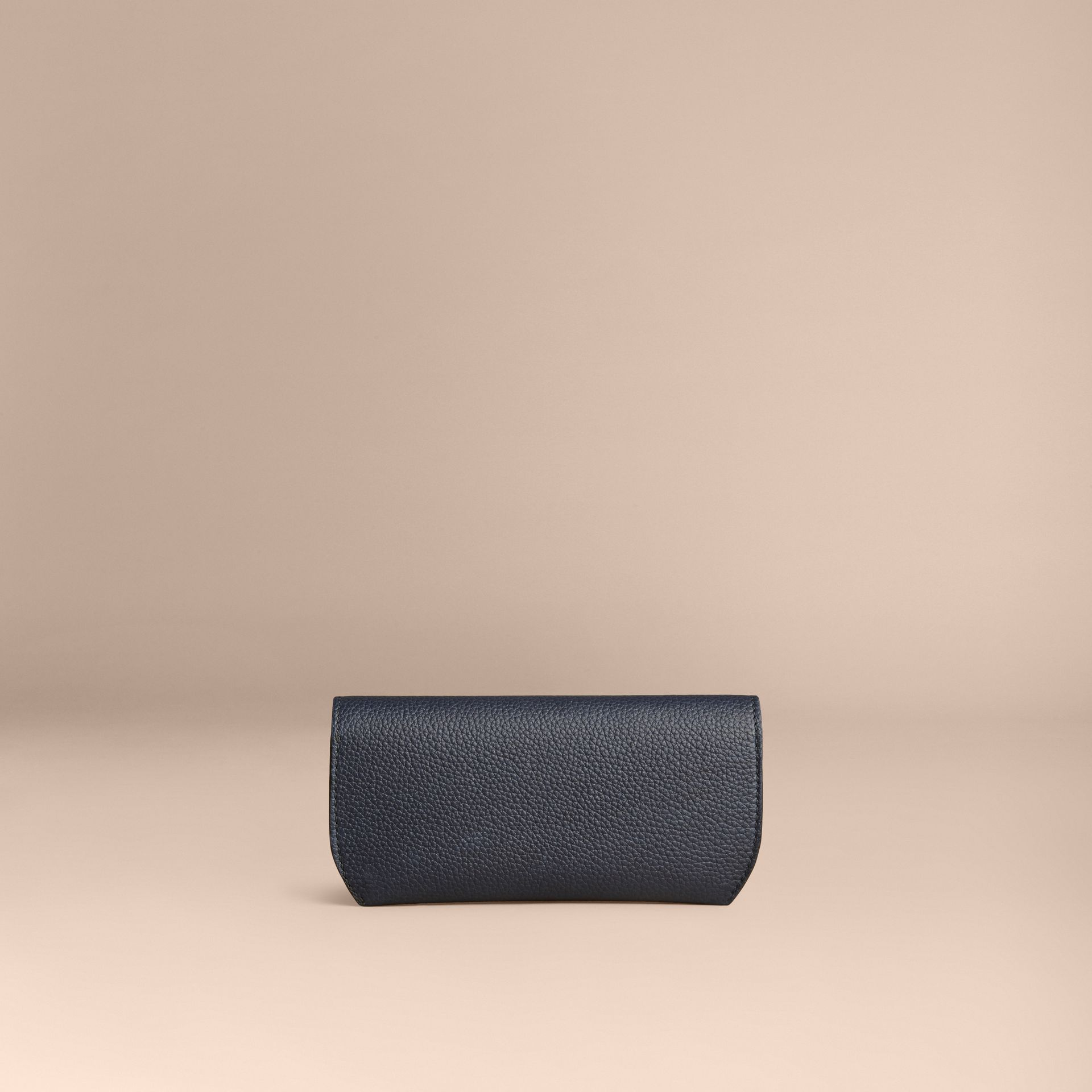 Bright navy Grainy Leather Eyewear Case Bright Navy - gallery image 4