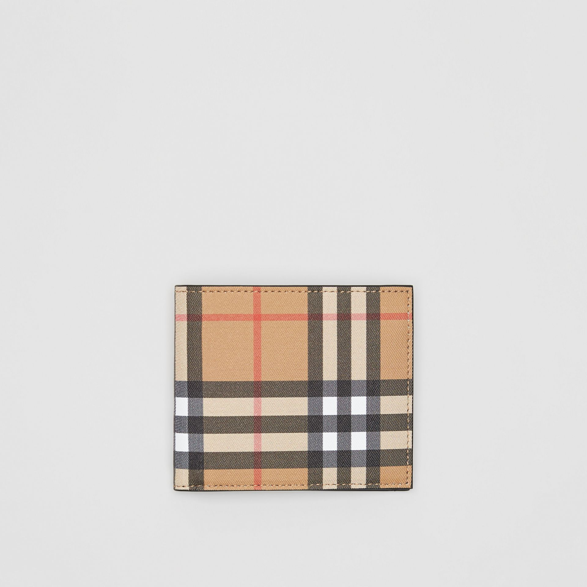 Vintage Check International Bifold Wallet in Black - Men | Burberry United Kingdom - gallery image 0