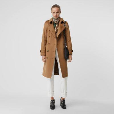 Kensington Cashmere Trench Coat in Mid Camel