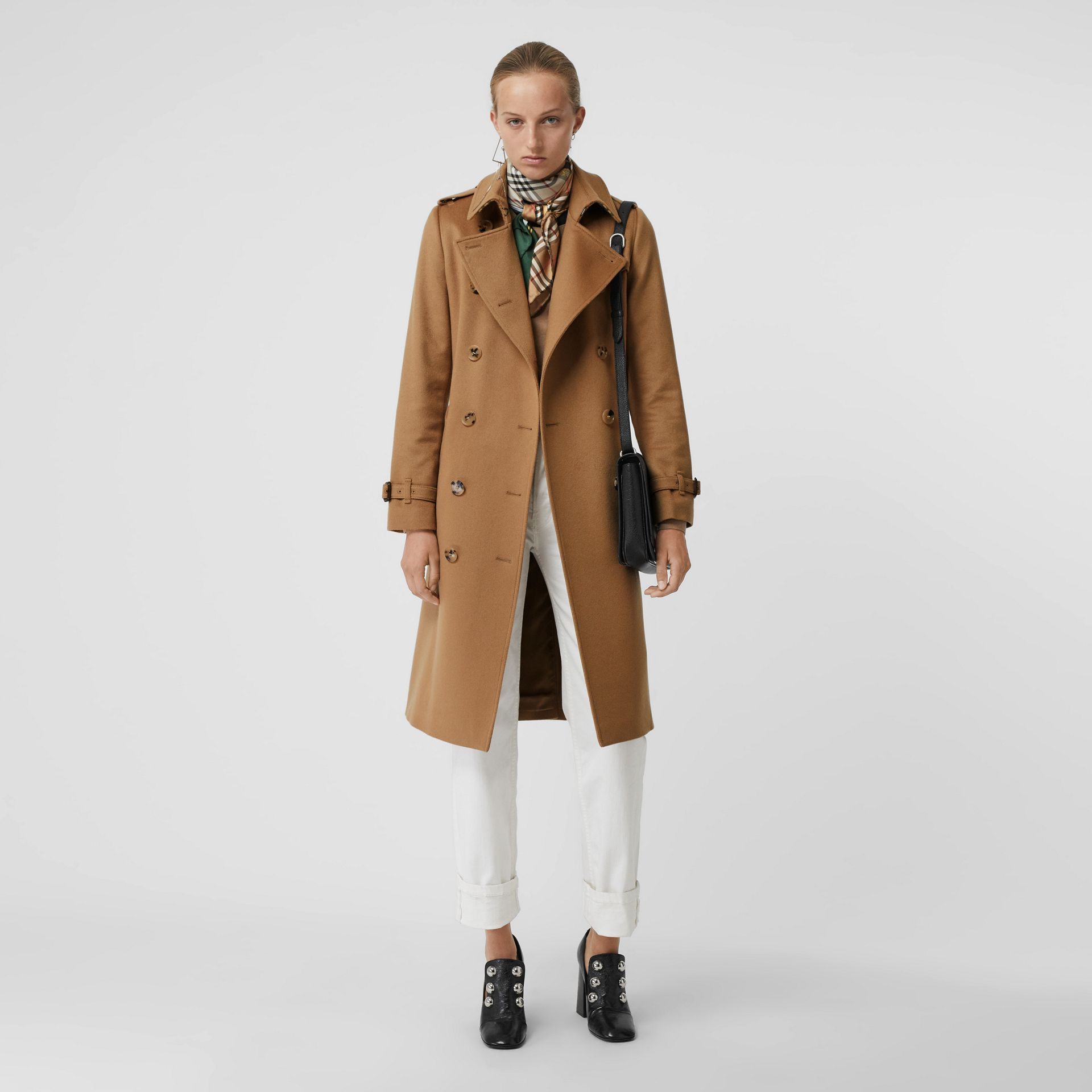 Cashmere Trench Coat in Mid Camel - Women | Burberry United States - gallery image 0