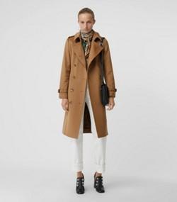 fe477a56030 Trench coat en cachemir (Cámel Medio)