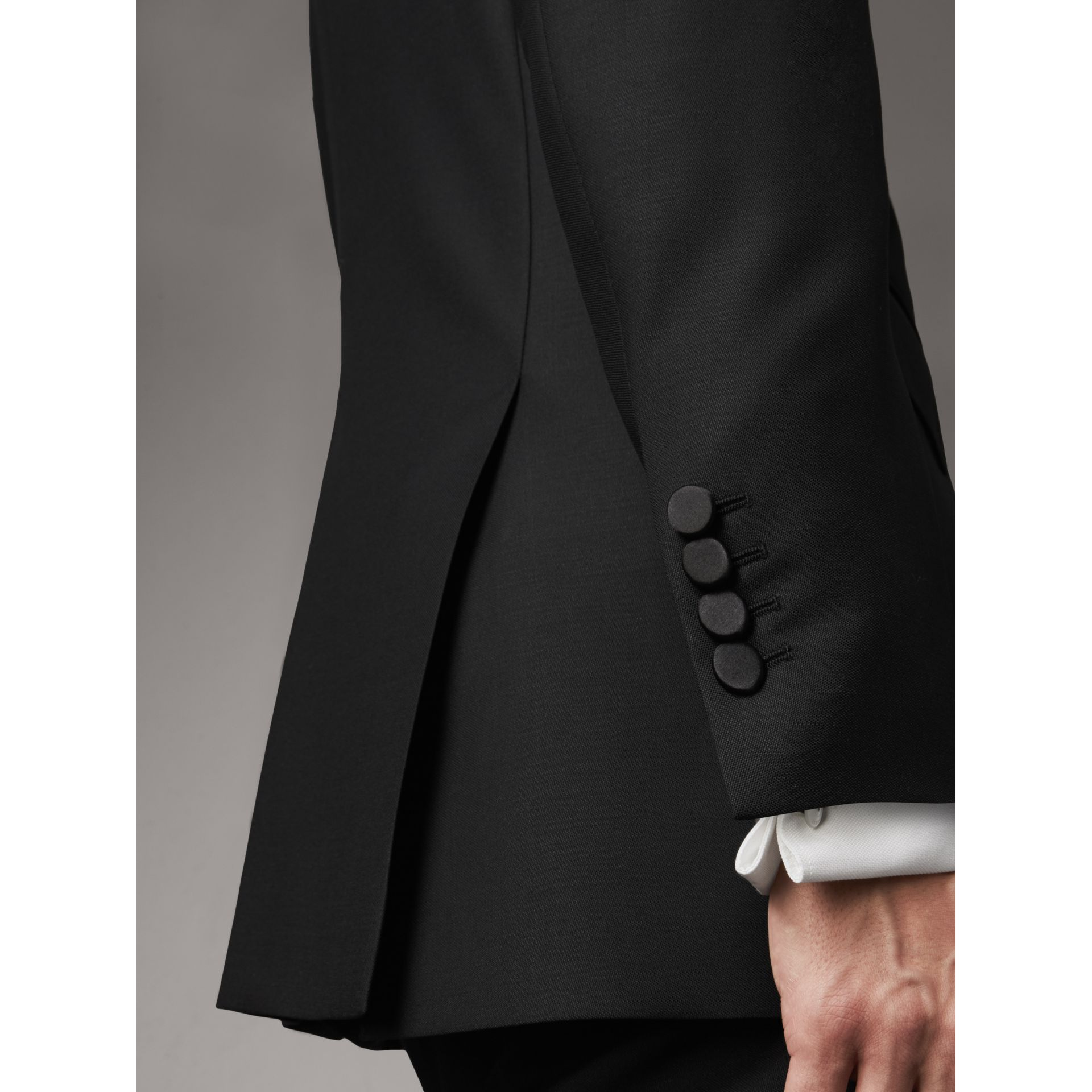 Modern Fit Wool Mohair Tuxedo in Black - Men | Burberry Singapore - gallery image 4