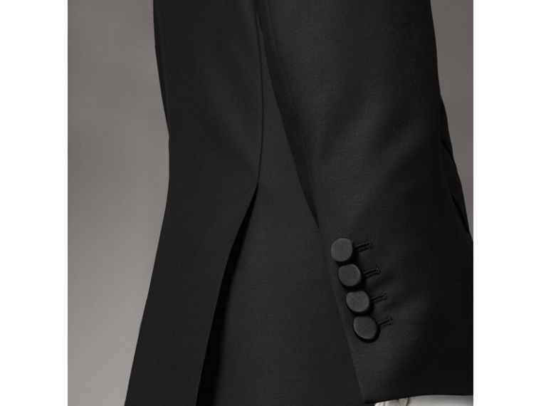 Modern Fit Wool Mohair Tuxedo in Black - Men | Burberry Canada - cell image 4
