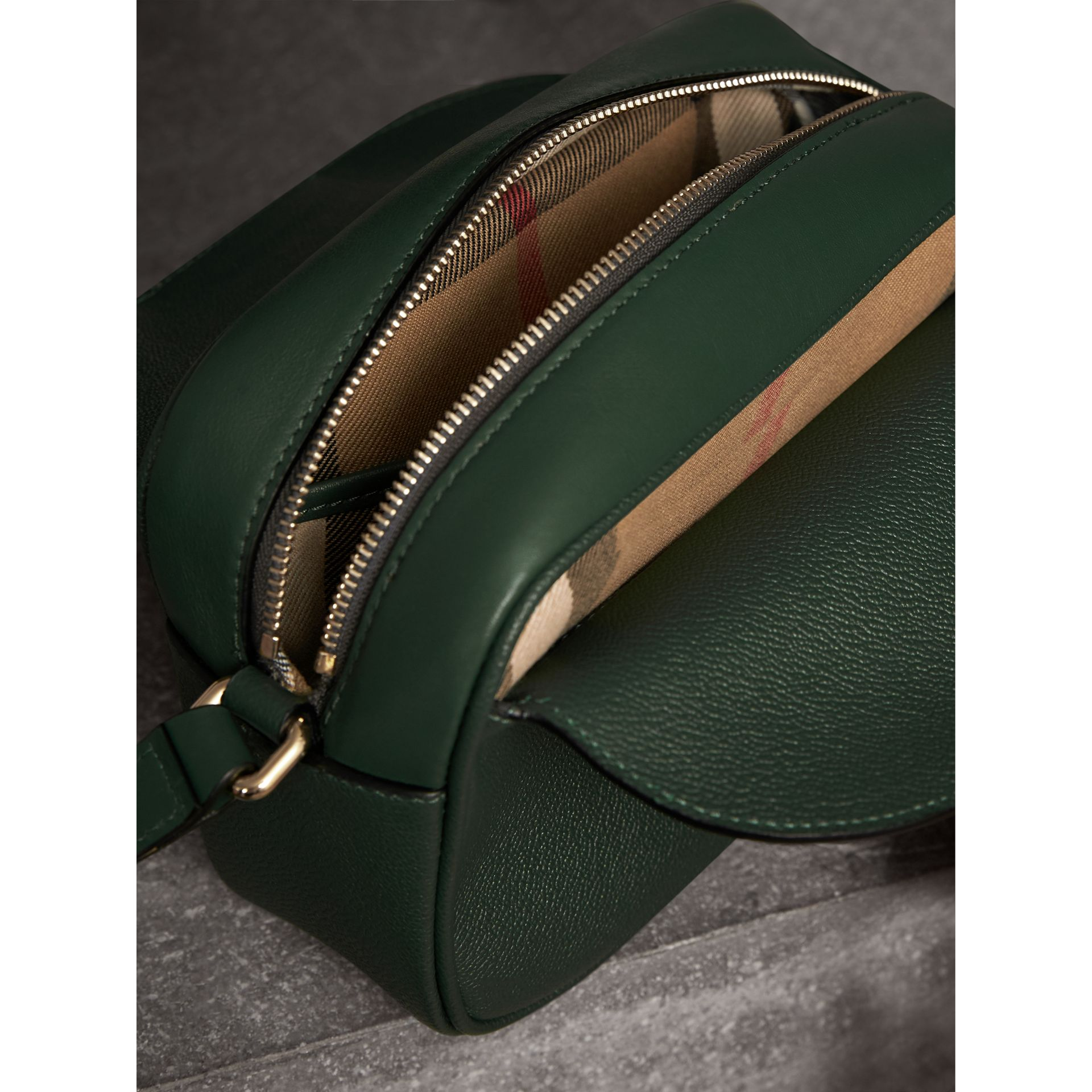 The Small Buckle Crossbody Bag in Leather in Sea Green - Women | Burberry Australia - gallery image 5