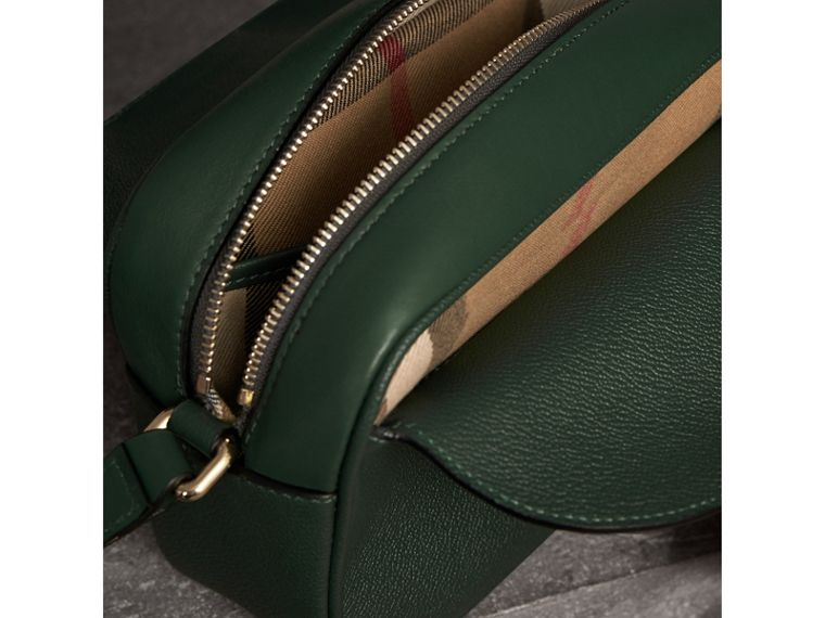 The Small Buckle Crossbody Bag in Leather in Sea Green - Women | Burberry Australia - cell image 4