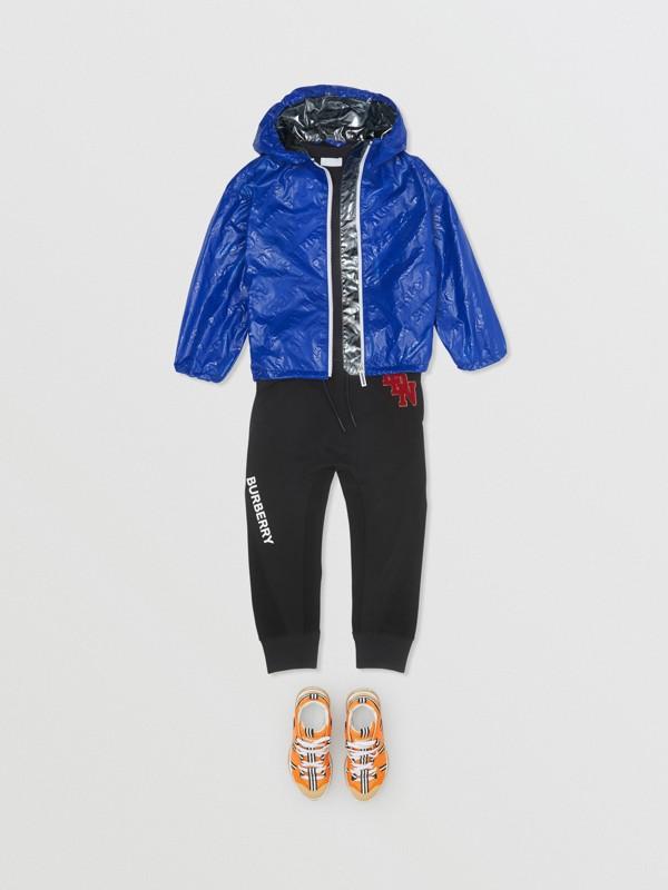Logo Print Lightweight Hooded Jacket in Deep Cobalt | Burberry - cell image 3
